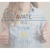 Aviate Press is now LIVE on Etsy!